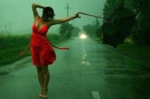 rain red umrella 1
