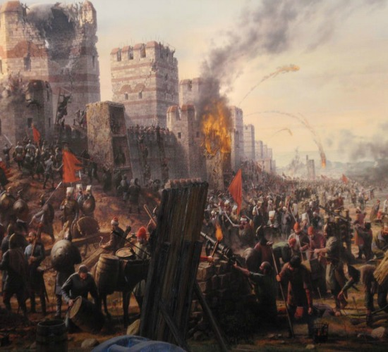 attacking-the-walls-of-constaninople