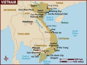map vietnam 1