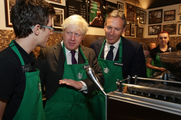 Starbucks Apprenticeships with Boris Johnson