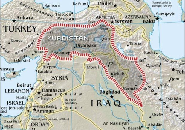kurdistan map 1