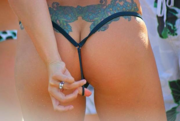hot bikini string